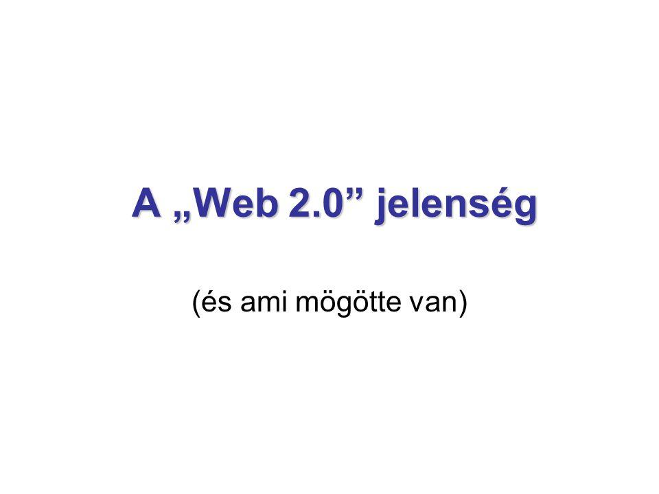 """A """"Web 2.0 jelenség (és ami mögötte van)"""