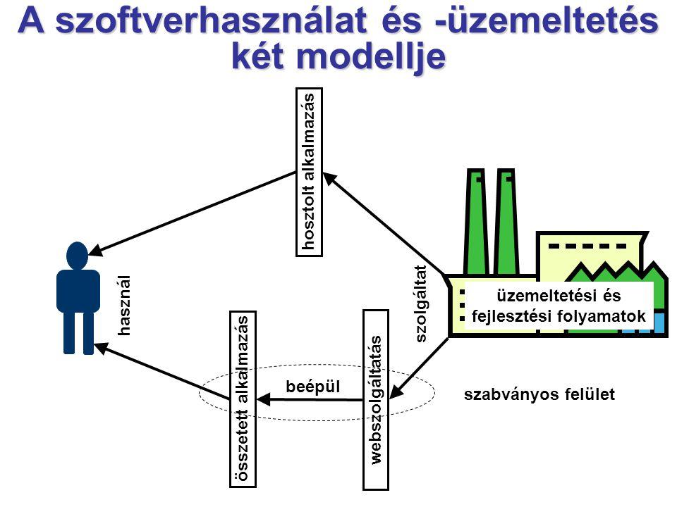 A szoftverhasználat és -üzemeltetés két modellje