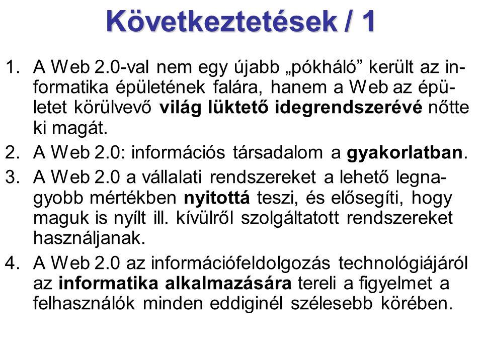 Következtetések / 1