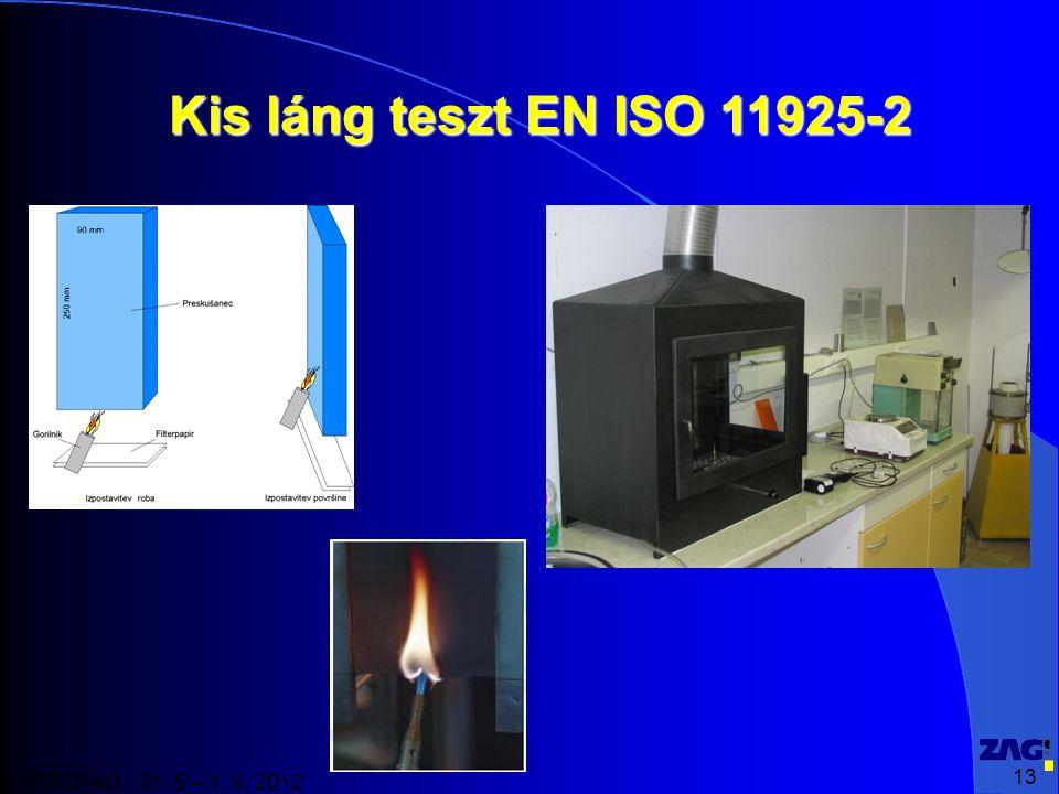 Kis láng teszt EN ISO 11925-2