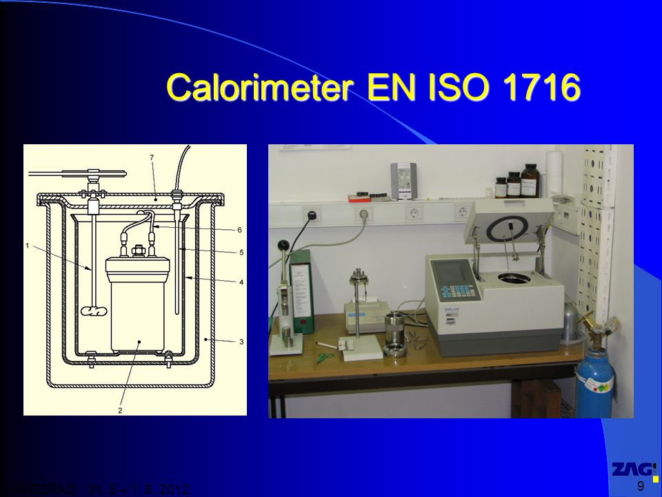 Calorimeter EN ISO 1716