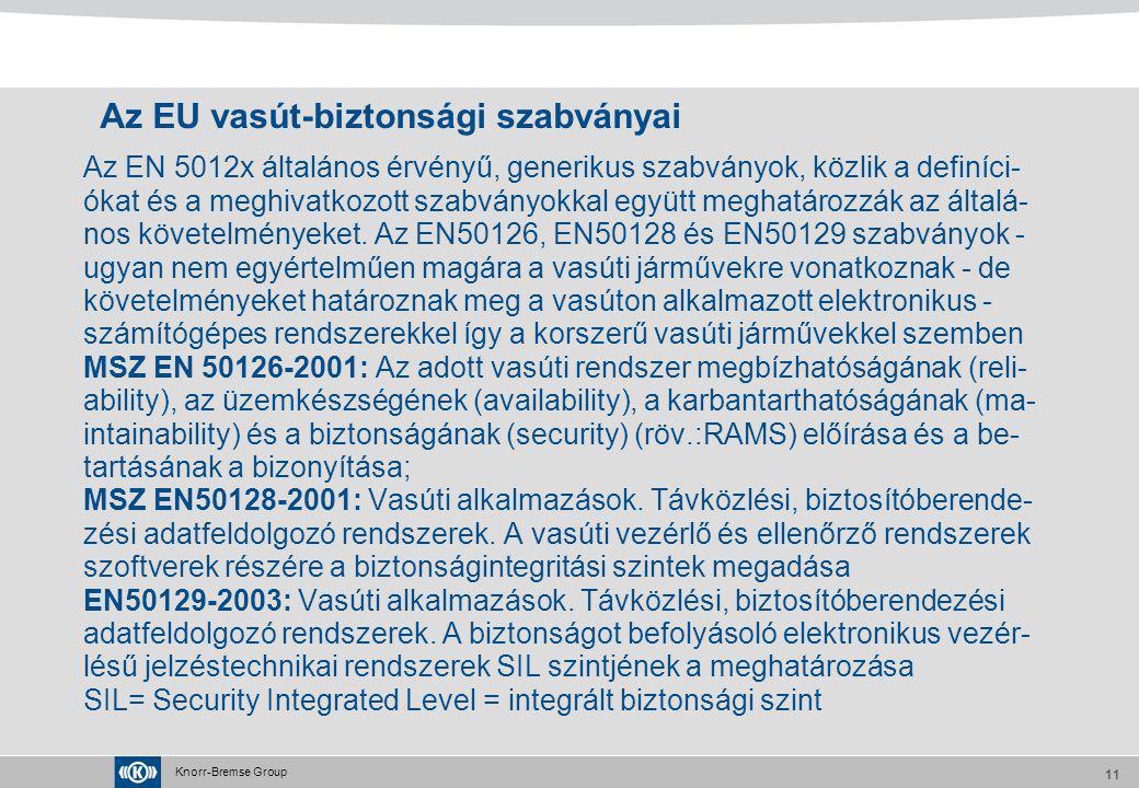 Az EU vasút-biztonsági szabványai