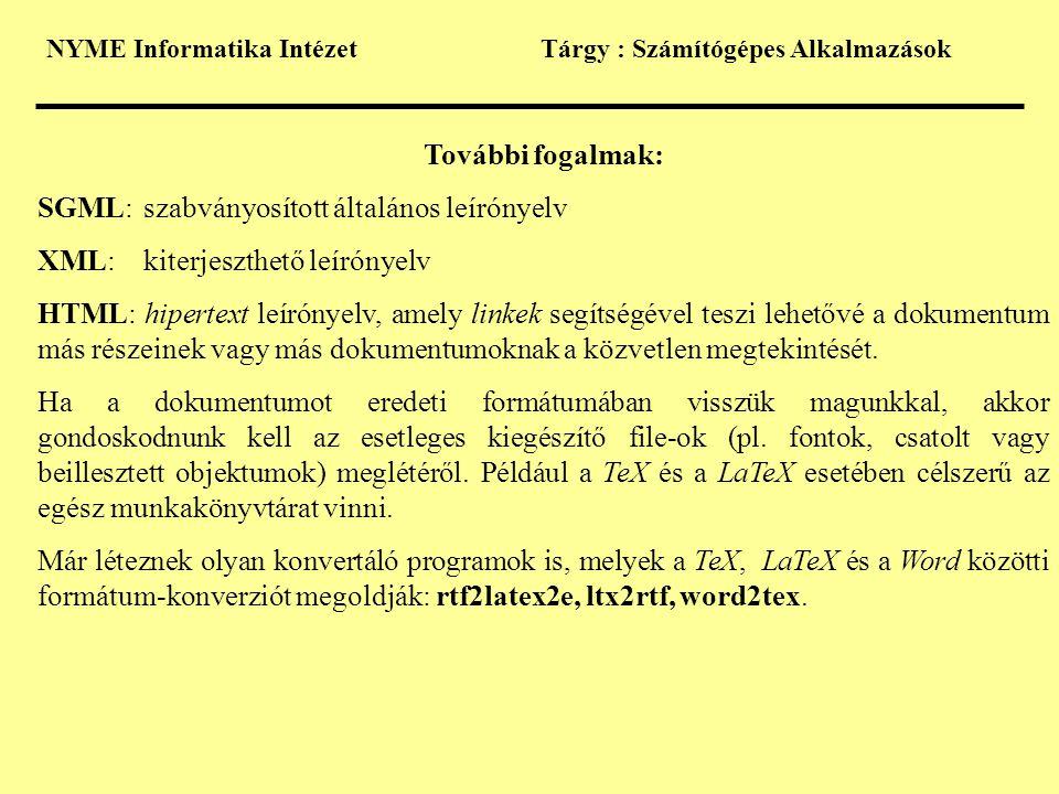 SGML: szabványosított általános leírónyelv