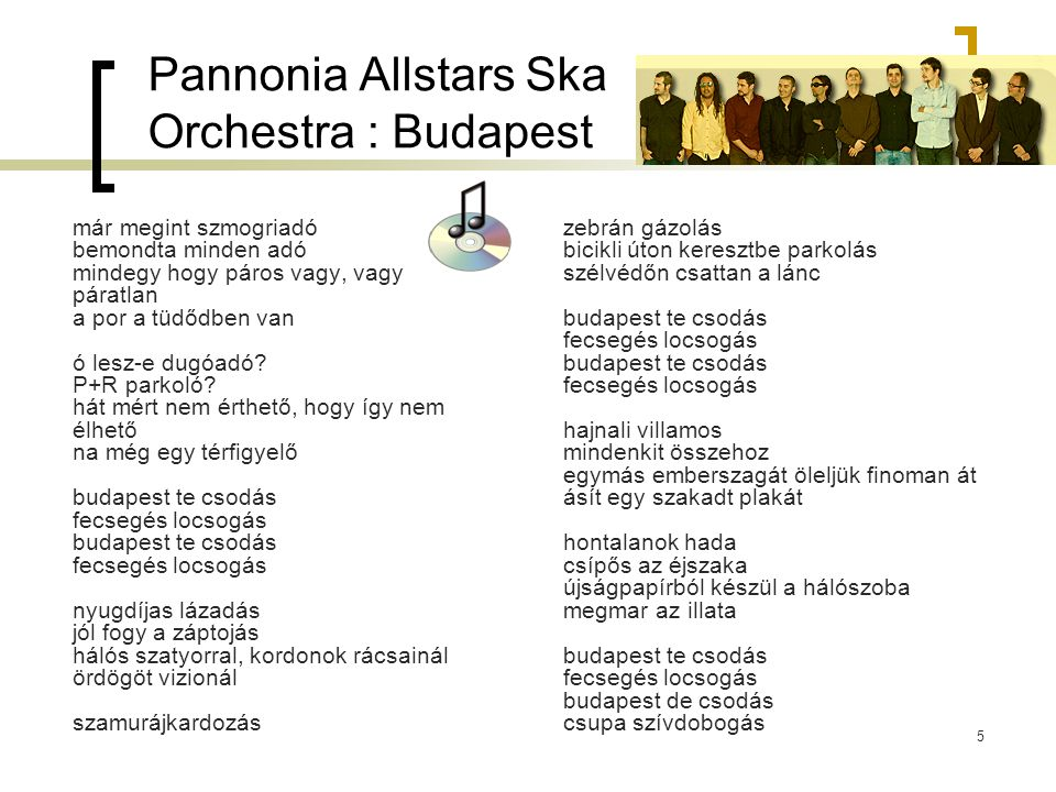 Pannonia Allstars Ska Orchestra : Budapest