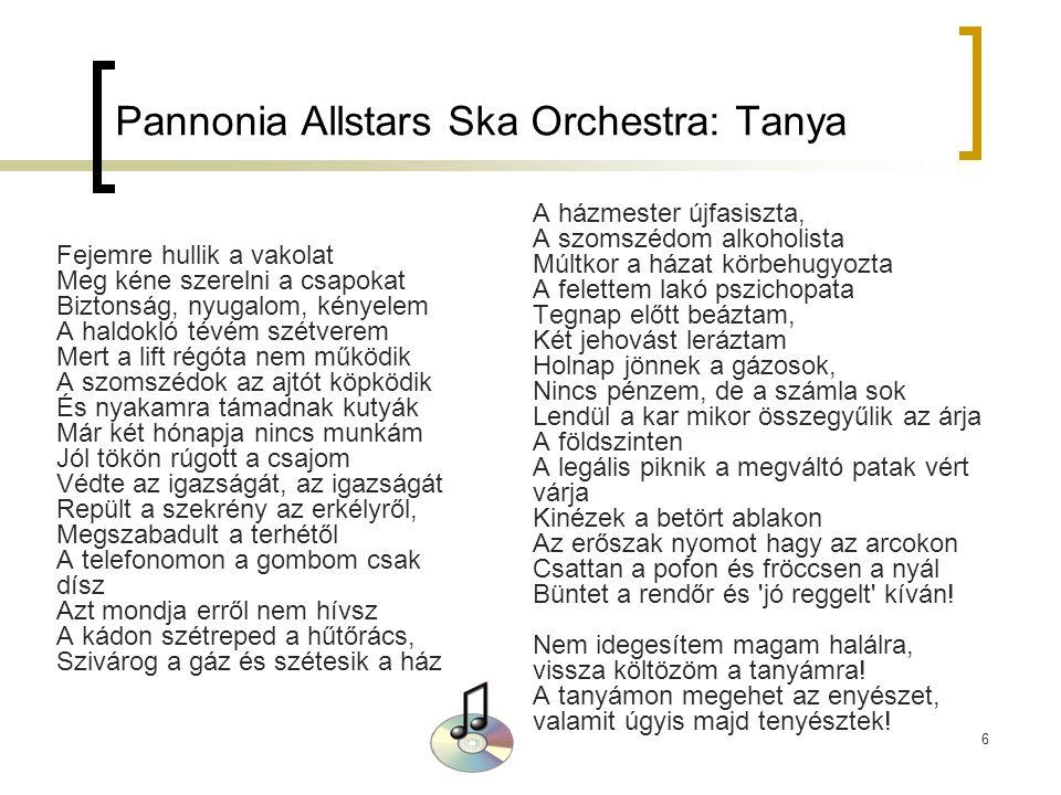 Pannonia Allstars Ska Orchestra: Tanya