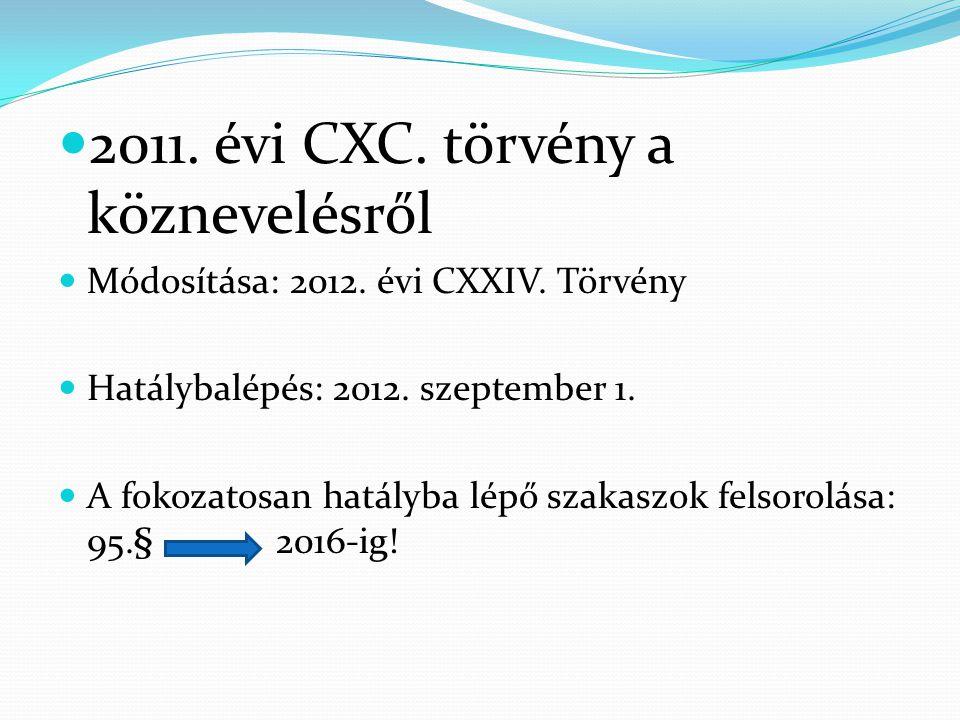 2011. évi CXC. törvény a köznevelésről