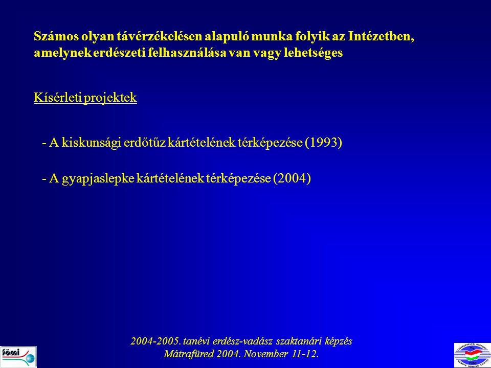 2004-2005. tanévi erdész-vadász szaktanári képzés
