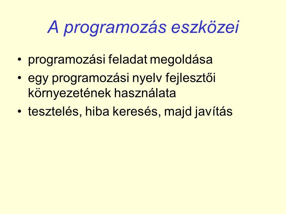 A programozás eszközei
