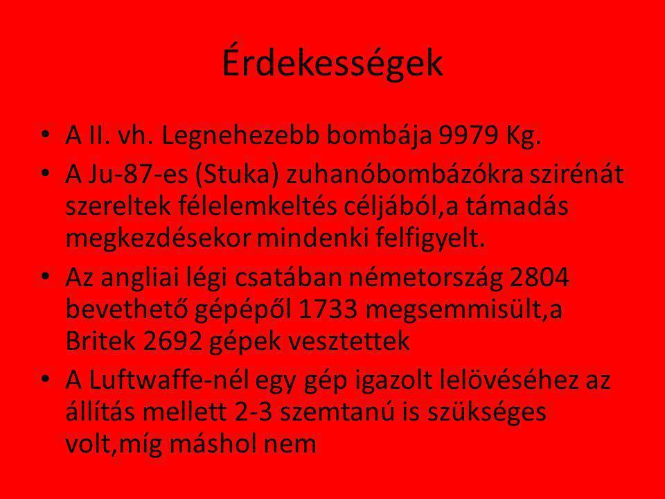 Érdekességek A II. vh. Legnehezebb bombája 9979 Kg.