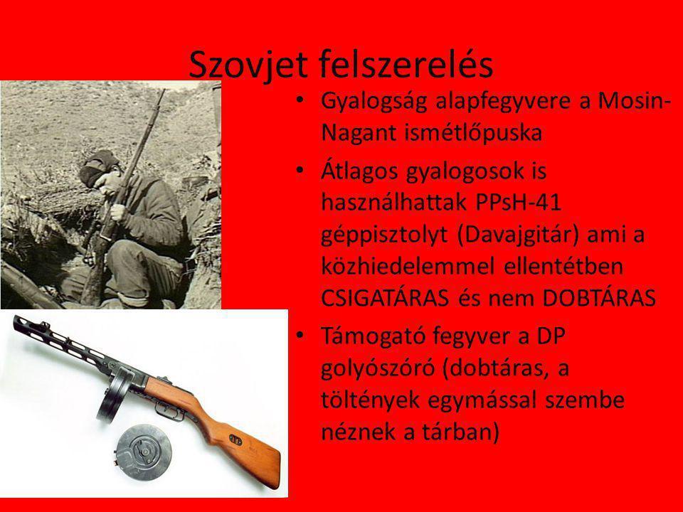 Szovjet felszerelés Gyalogság alapfegyvere a Mosin-Nagant ismétlőpuska