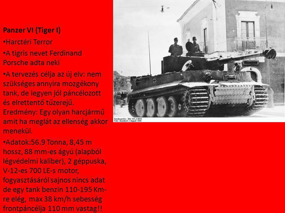 Panzer VI (Tiger I) Harctéri Terror. A tigris nevet Ferdinand Porsche adta neki.