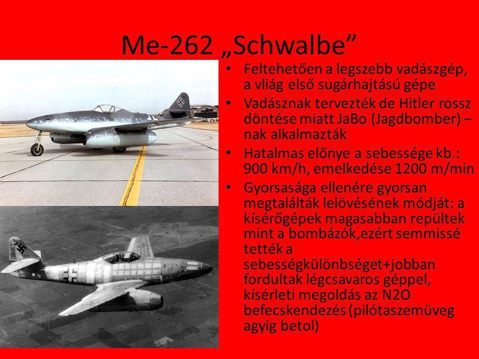 """Me-262 """"Schwalbe Feltehetően a legszebb vadászgép, a vliág első sugárhajtású gépe."""