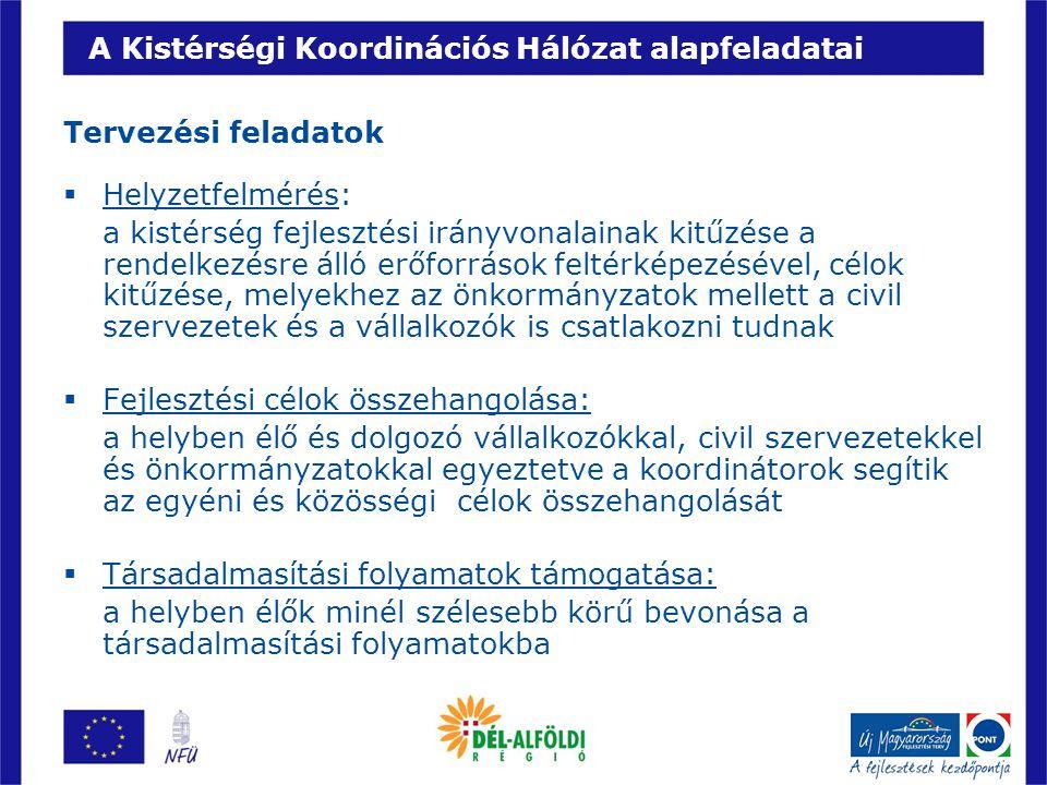 A Kistérségi Koordinációs Hálózat alapfeladatai