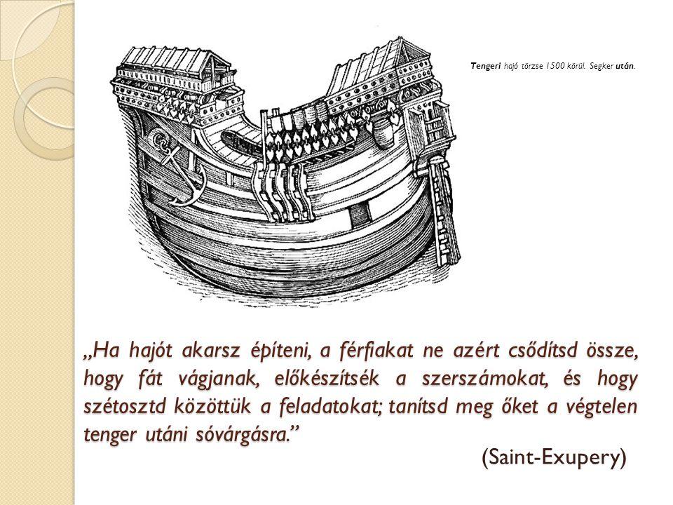 Tengeri hajó törzse 1500 körül. Segker után.