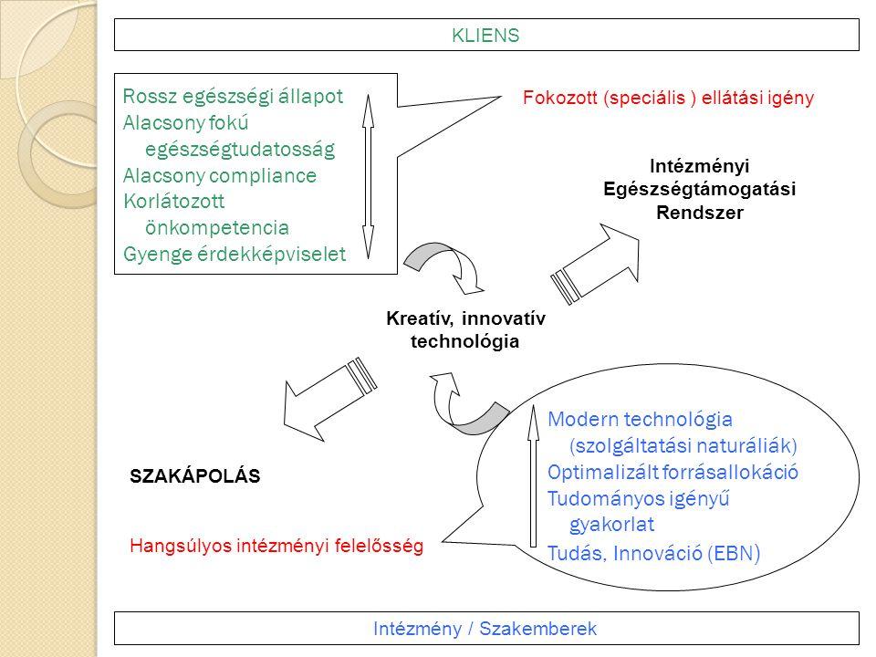 Intézményi Egészségtámogatási Rendszer Kreatív, innovatív technológia