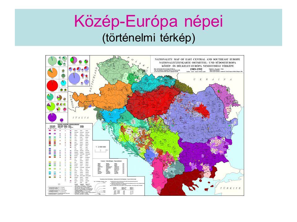 Közép-Európa népei (történelmi térkép)
