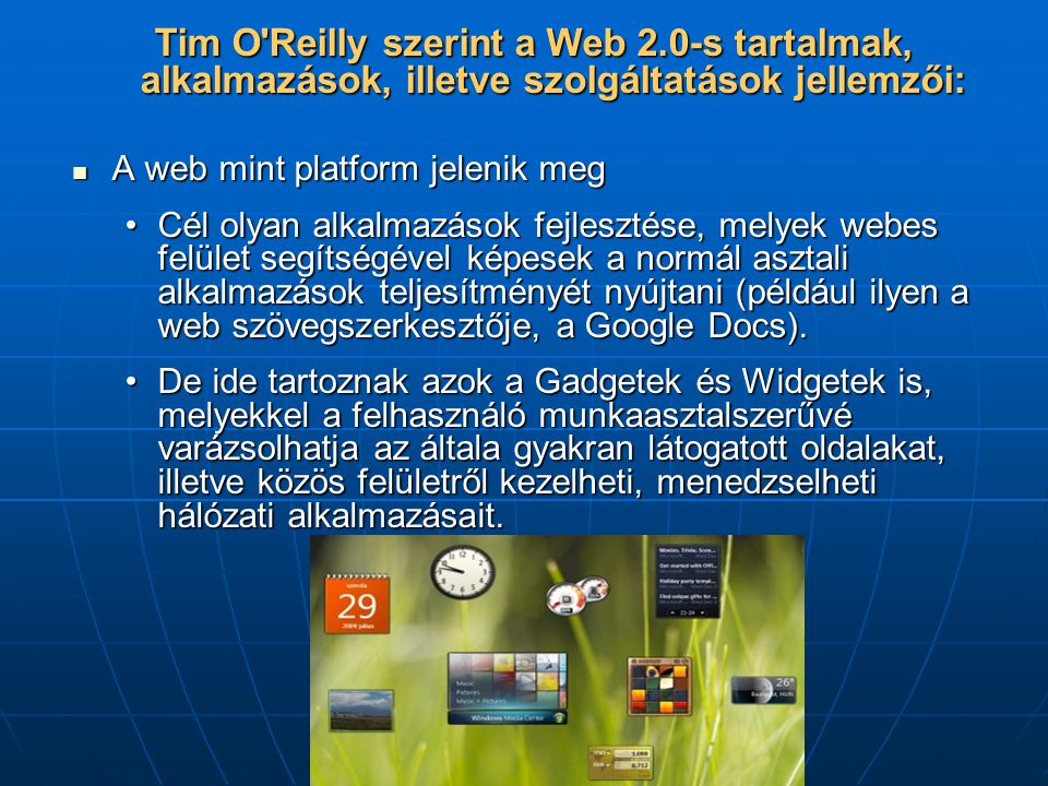 Tim O Reilly szerint a Web 2