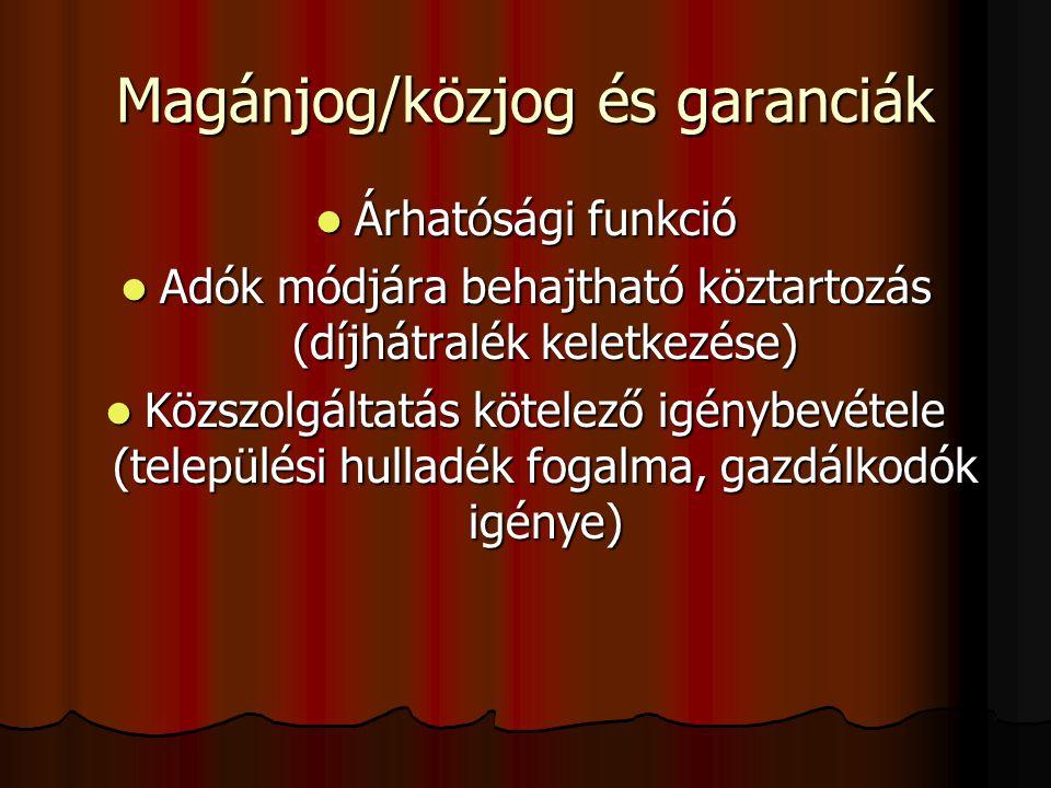 Magánjog/közjog és garanciák