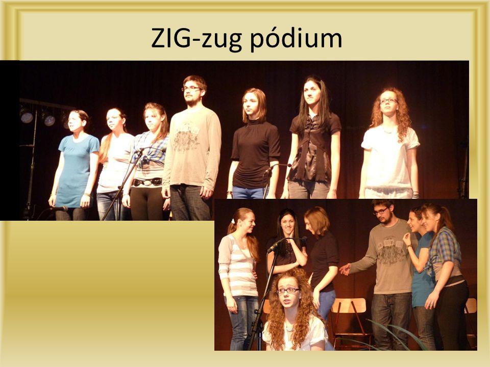 ZIG-zug pódium