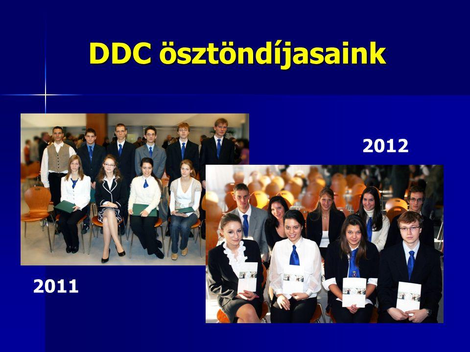 DDC ösztöndíjasaink 2012 2011