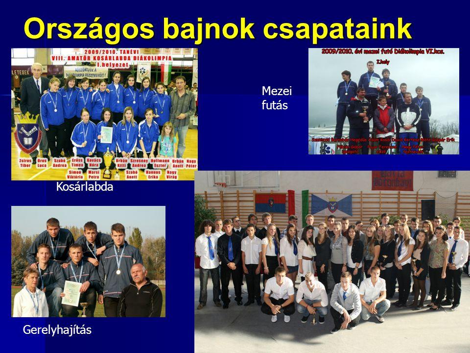 Országos bajnok csapataink