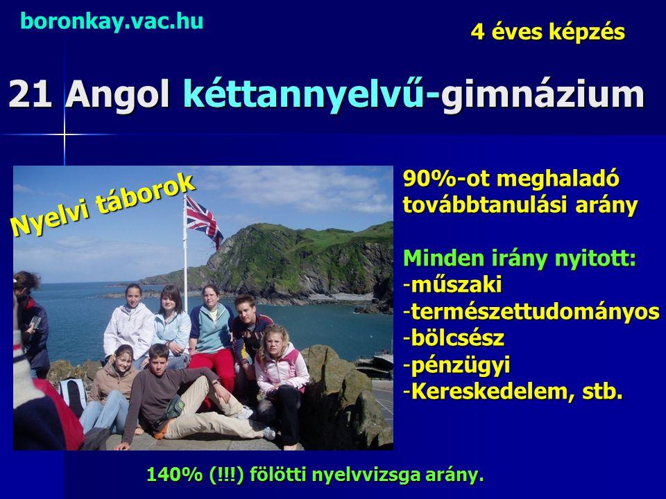21 Angol kéttannyelvű-gimnázium