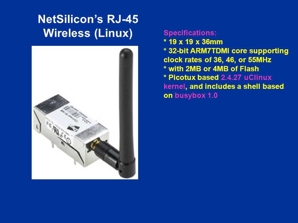 NetSilicon's RJ-45 Wireless (Linux)