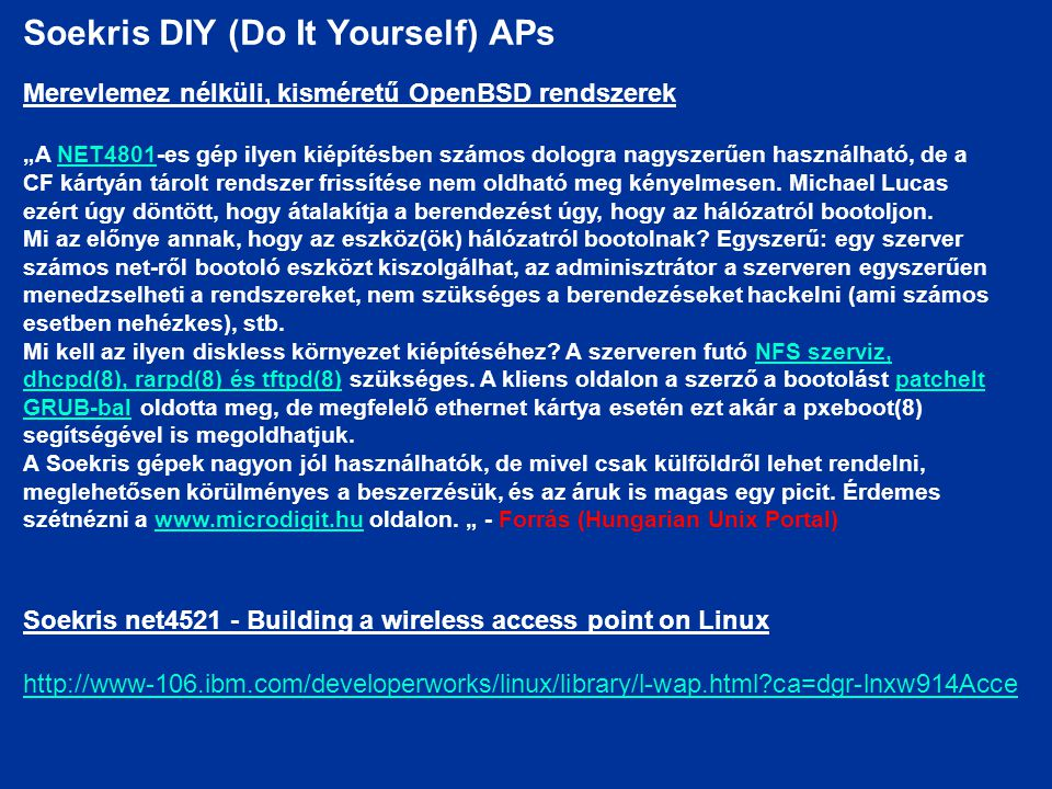 Soekris DIY (Do It Yourself) APs