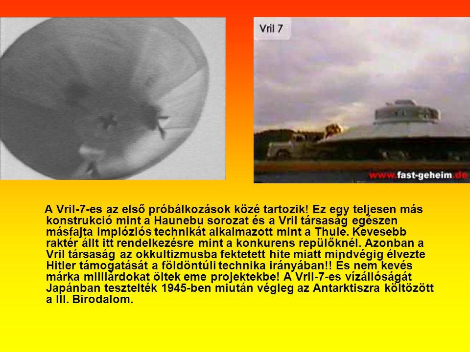 A Vril-7-es az első próbálkozások közé tartozik