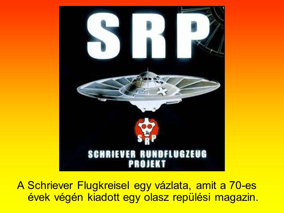 A Schriever Flugkreisel egy vázlata, amit a 70-es évek végén kiadott egy olasz repülési magazin.