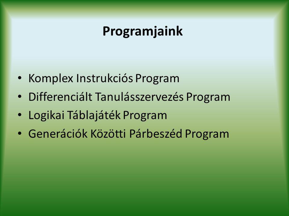Programjaink Komplex Instrukciós Program
