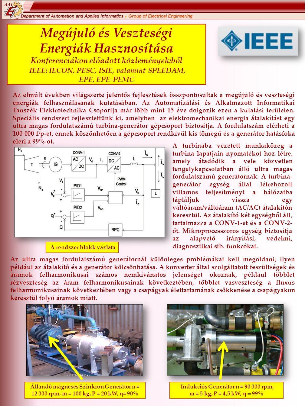 Megújuló és Veszteségi Energiák Hasznosítása