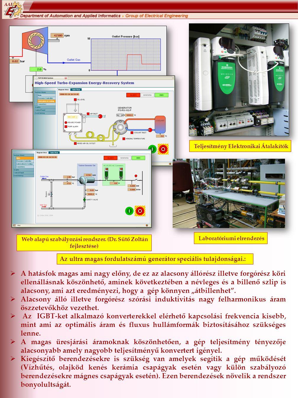 Teljesítmény Elektronikai Átalakítók Laboratóriumi elrendezés