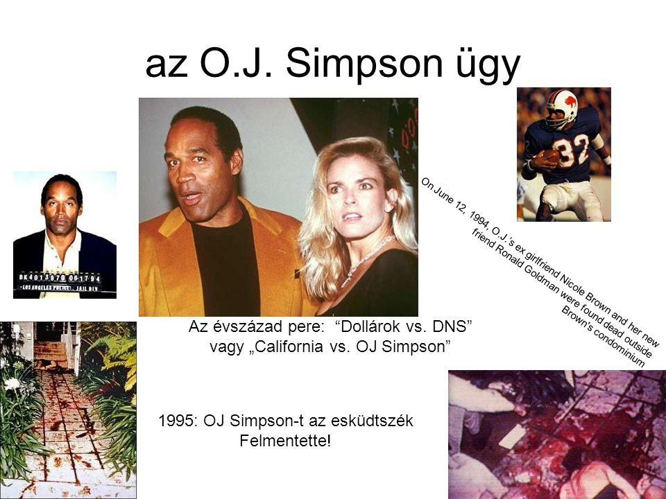 az O.J. Simpson ügy Az évszázad pere: Dollárok vs. DNS