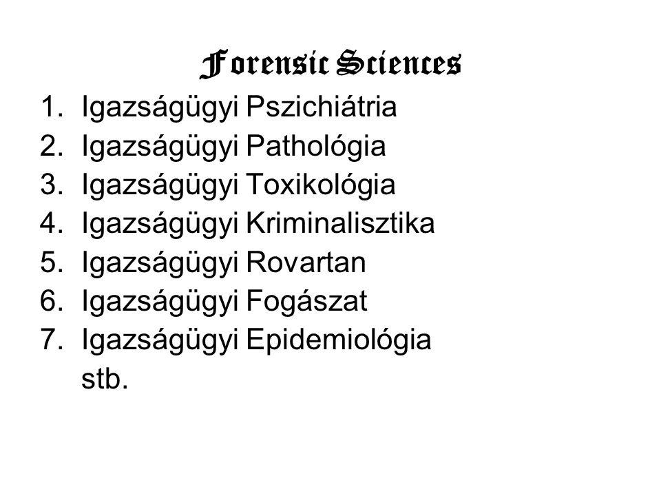 Forensic Sciences Igazságügyi Pszichiátria Igazságügyi Pathológia