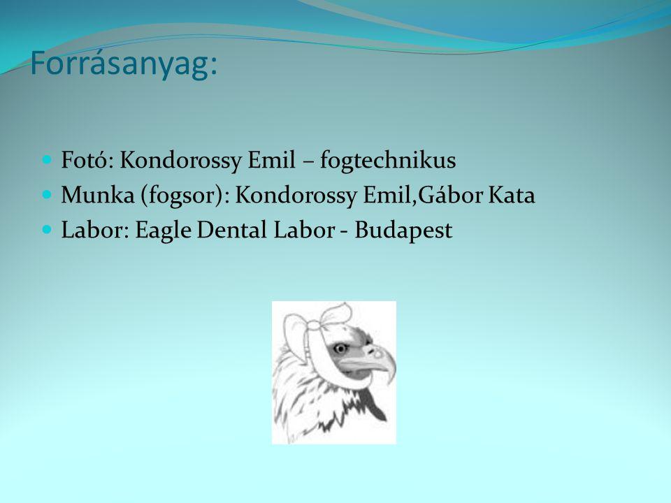 Forrásanyag: Fotó: Kondorossy Emil – fogtechnikus