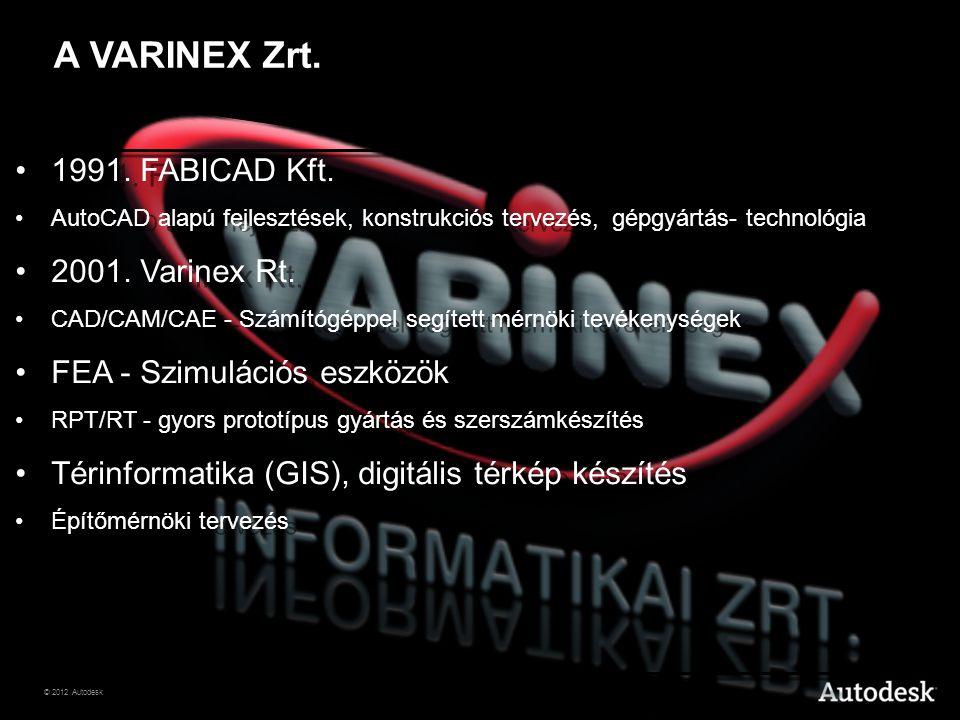 A VARINEX Zrt. 1991. FABICAD Kft. 2001. Varinex Rt.