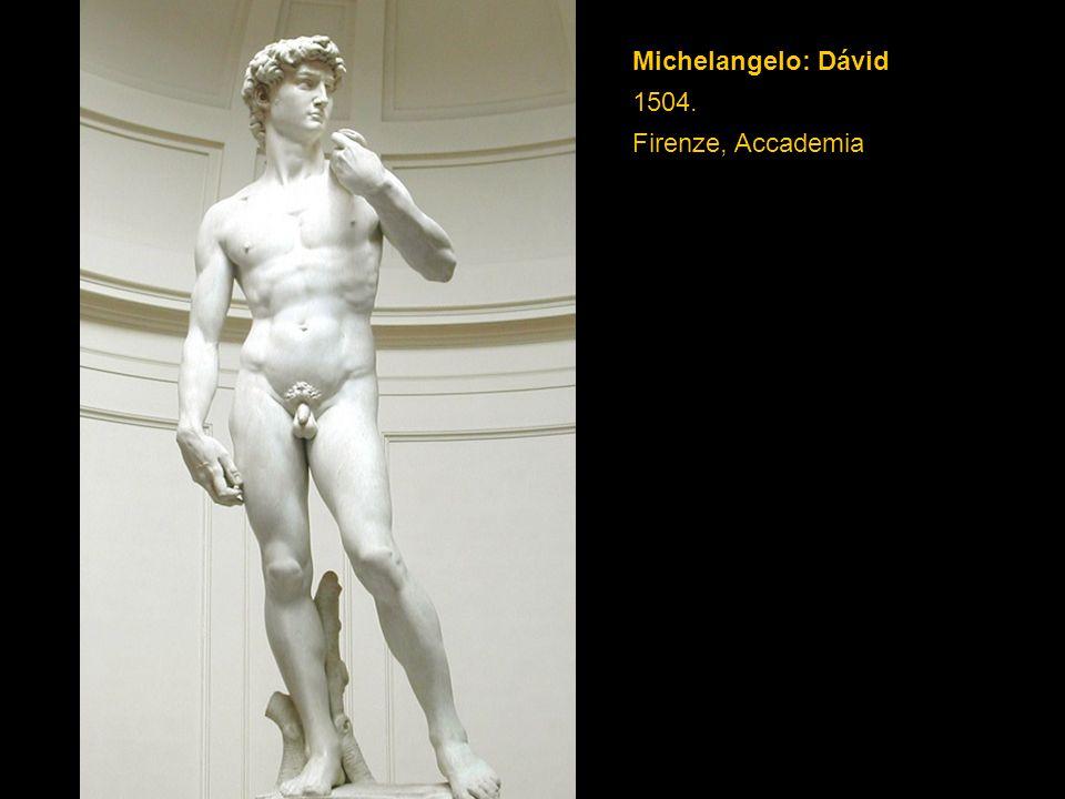 Michelangelo: Dávid 1504. Firenze, Accademia