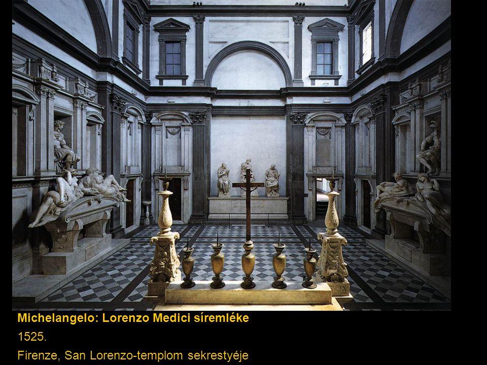 Michelangelo: Lorenzo Medici síremléke