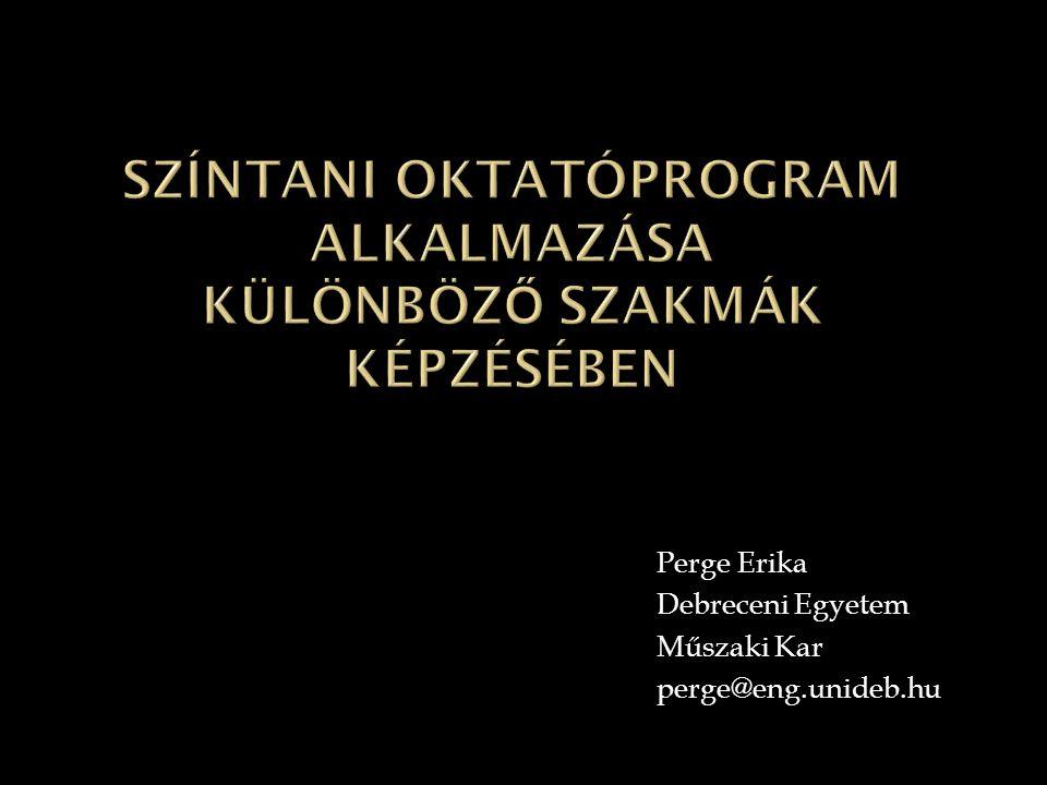 Színtani oktatóprogram alkalmazása különböző szakmák képzésében