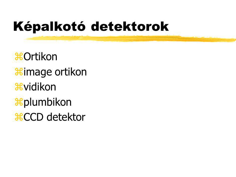 Képalkotó detektorok Ortikon image ortikon vidikon plumbikon