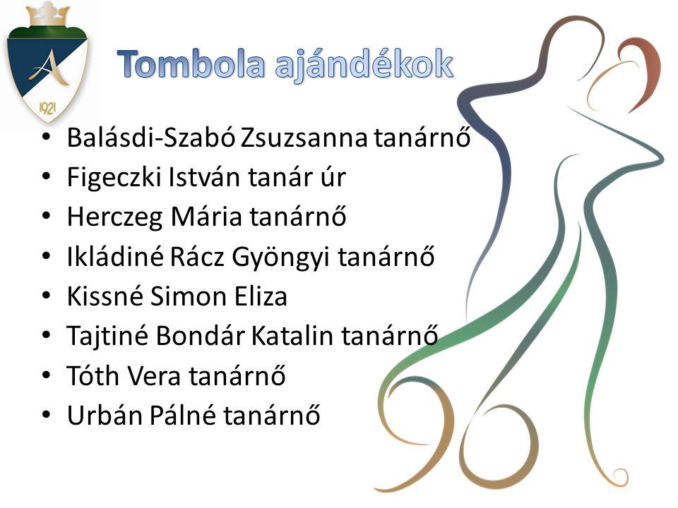Tombola ajándékok Balásdi-Szabó Zsuzsanna tanárnő