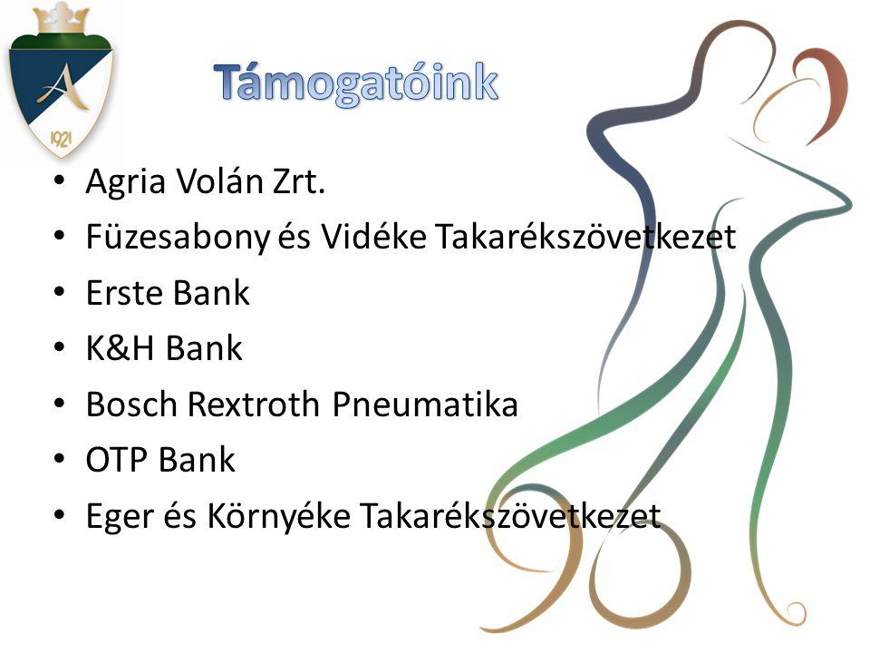 Támogatóink Agria Volán Zrt. Füzesabony és Vidéke Takarékszövetkezet