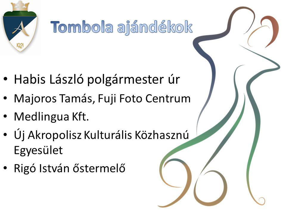 Tombola ajándékok Habis László polgármester úr