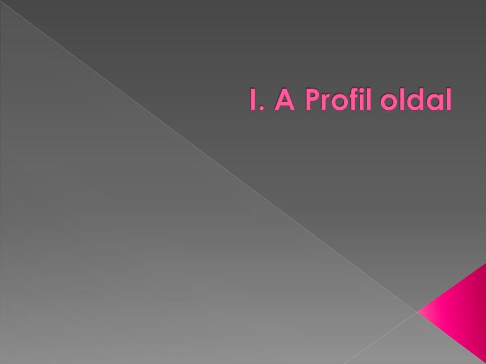 I. A Profil oldal