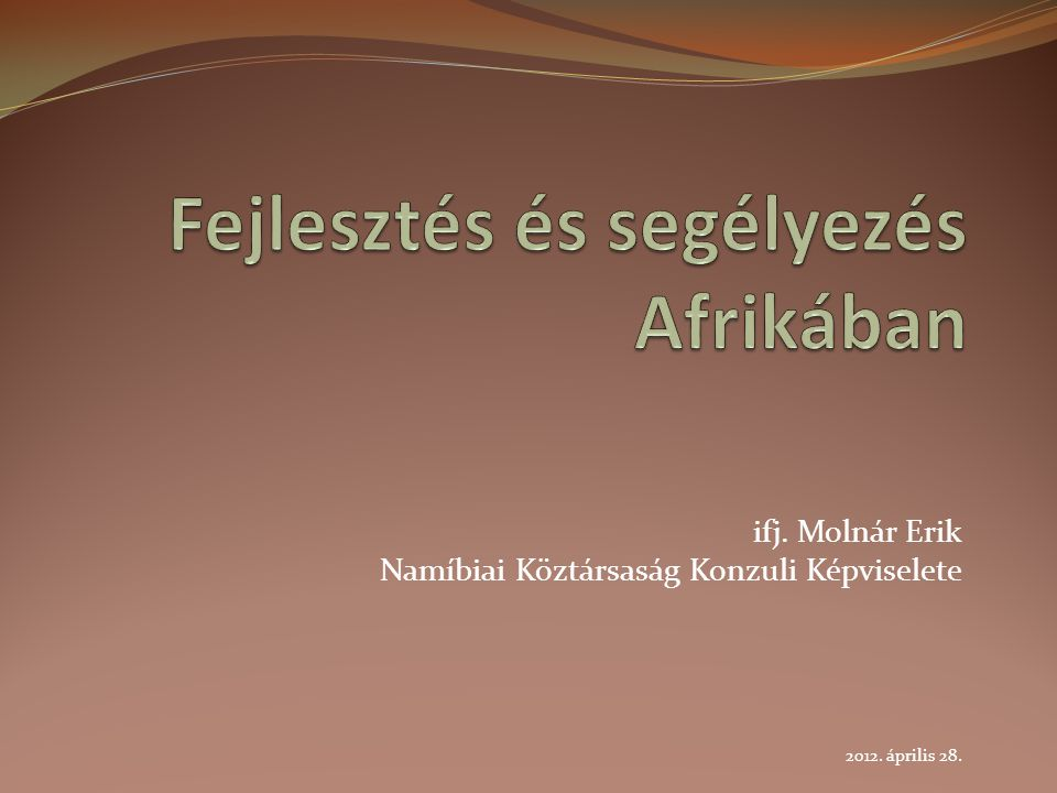 Fejlesztés és segélyezés Afrikában