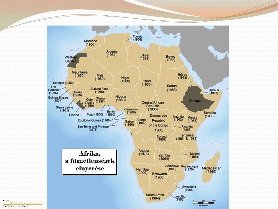 Afrika, a függetlenségek elnyerése