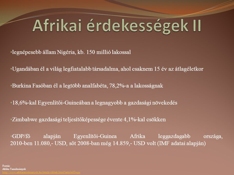 Afrikai érdekességek II