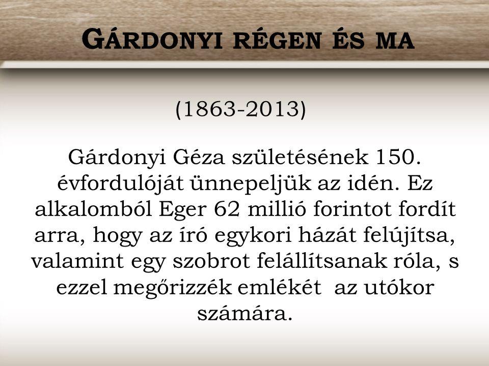 Gárdonyi régen és ma (1863-2013)