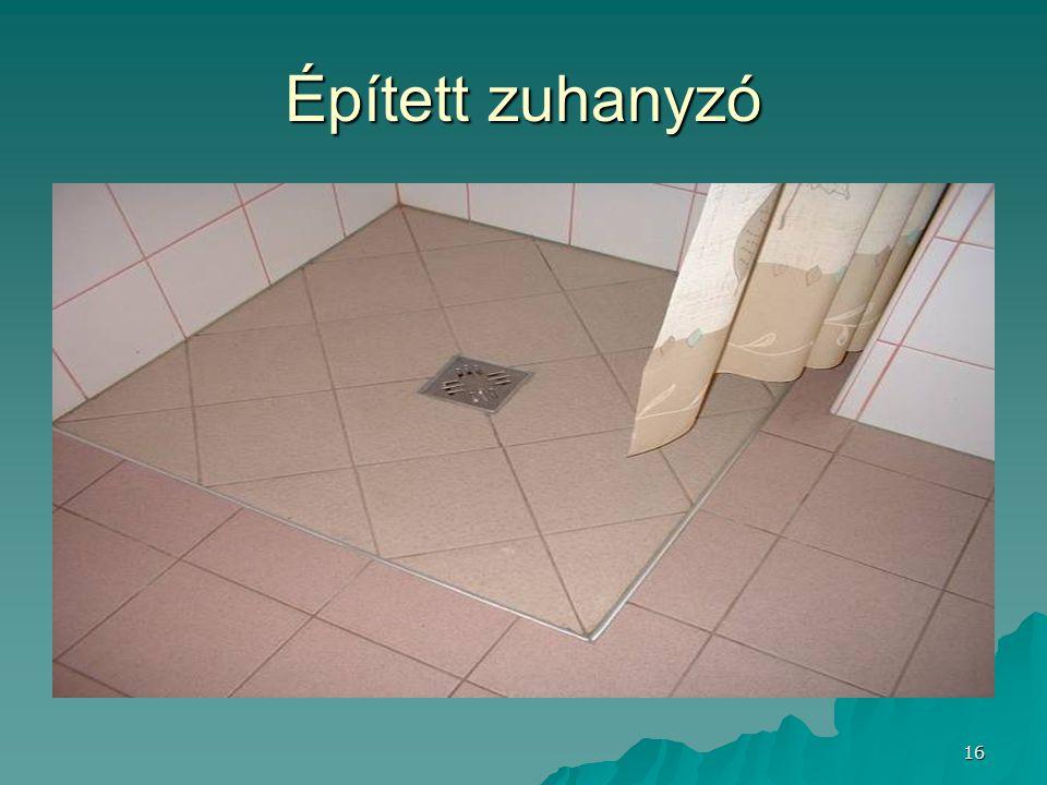 Épített zuhanyzó